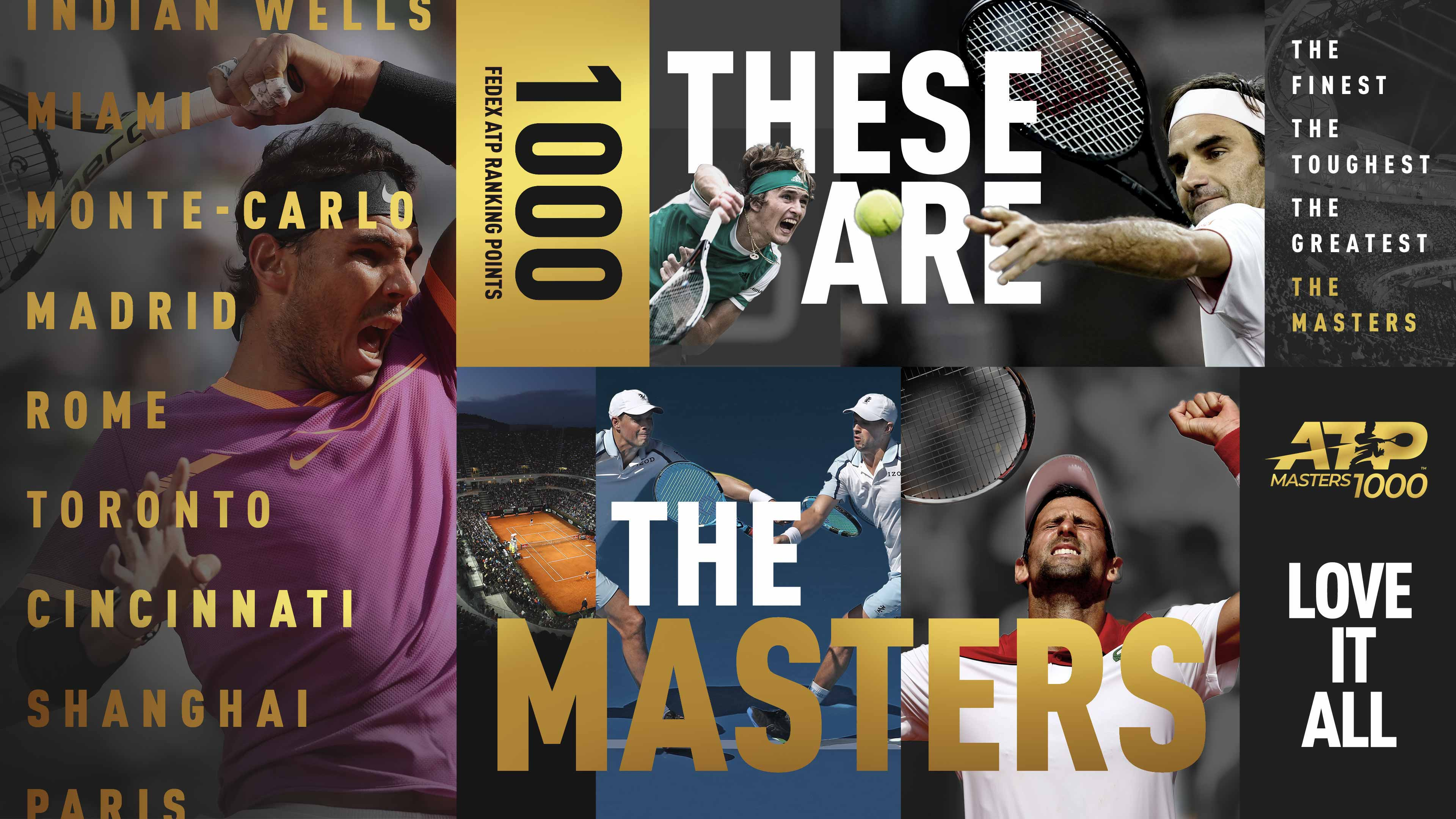 These Are The Masters | ATP Masters 1000 | Nadal, Djokovic, Federer, Bryans