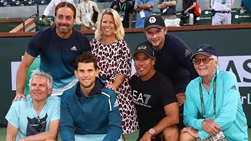 Nicolas Massu and Dominic Thiem joined forces ahead of the 2019 BNP Paribas Open.