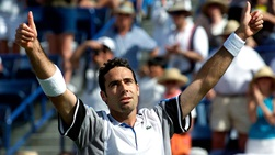 Alex Corretja defeated three consecutive Top 10 players to lift the 2000 BNP Paribas Open title.