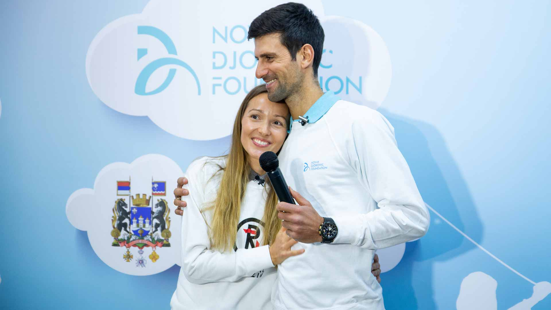 Jelena Djokovic, <a href='https://www.atptour.com/en/players/novak-djokovic/d643/overview'>Novak Djokovic</a>