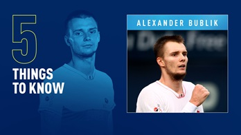 Alexander Bublik is No. 51 in the FedEx ATP Rankings.