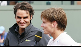 Federer Goffin Roland Garros 2012 Interview