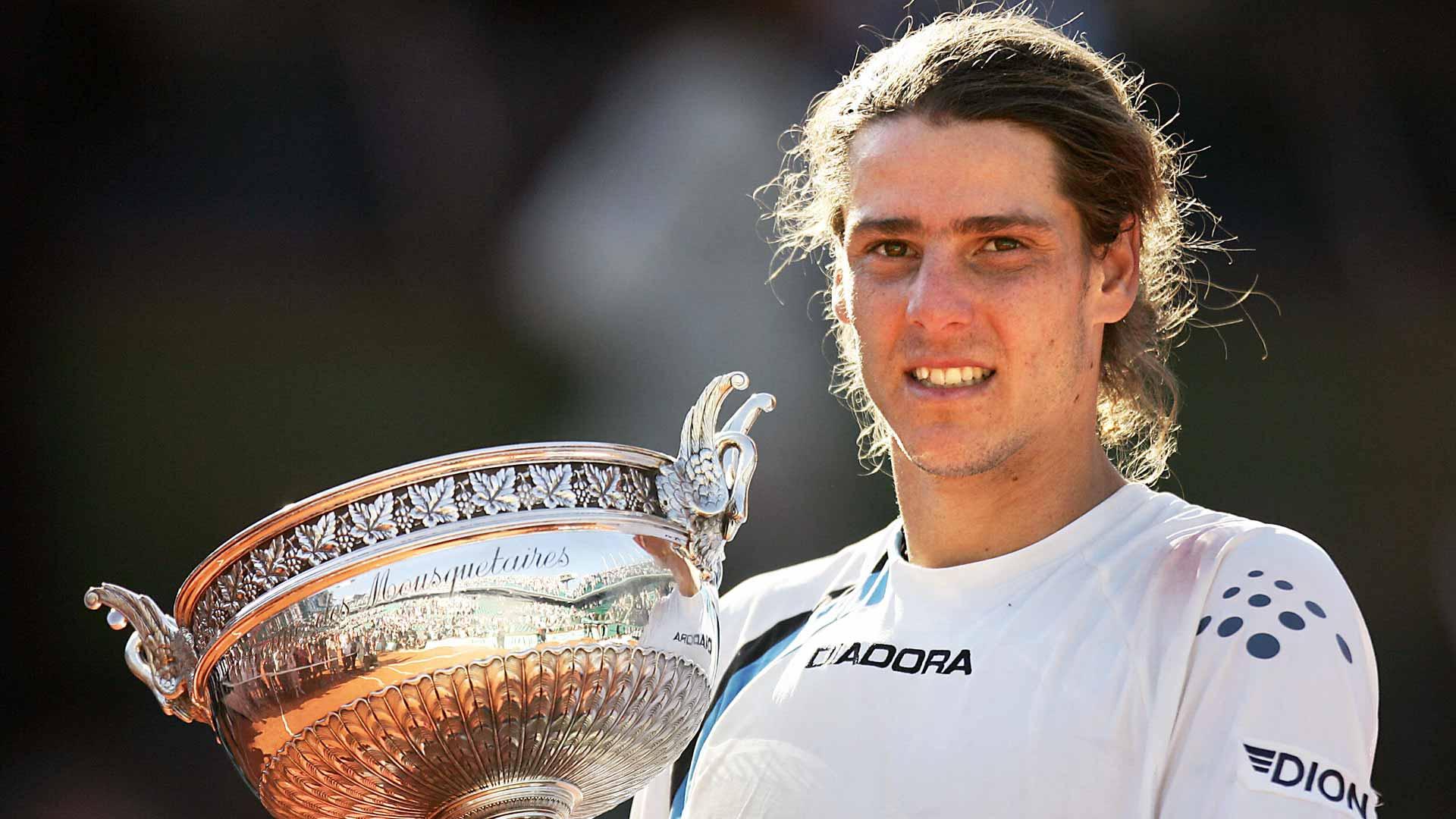 Gaudio 2004 Roland Garros trophy