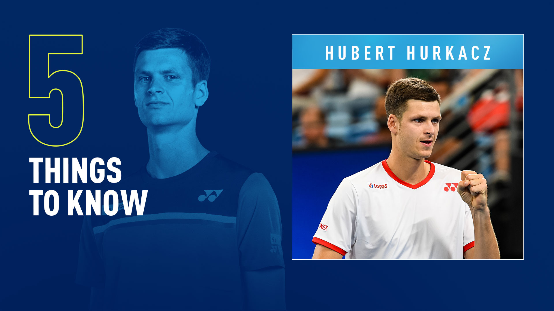 Hubert Hurkacz is the top-ranked Polish player in the FedEx ATP Rankings.