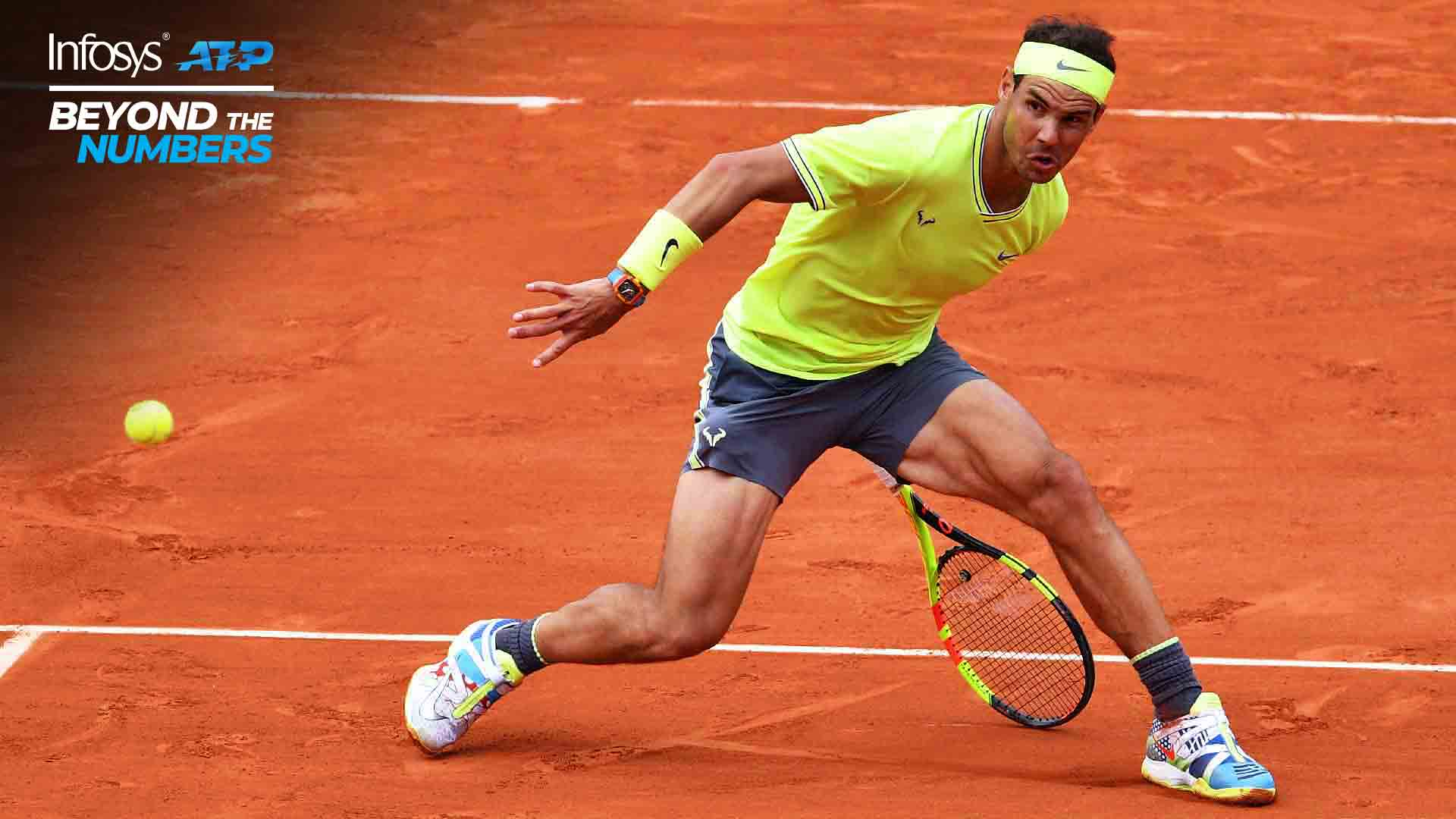Rafael Nadal has won more than 68 per cent of the games he has contested during third sets at Roland Garros.