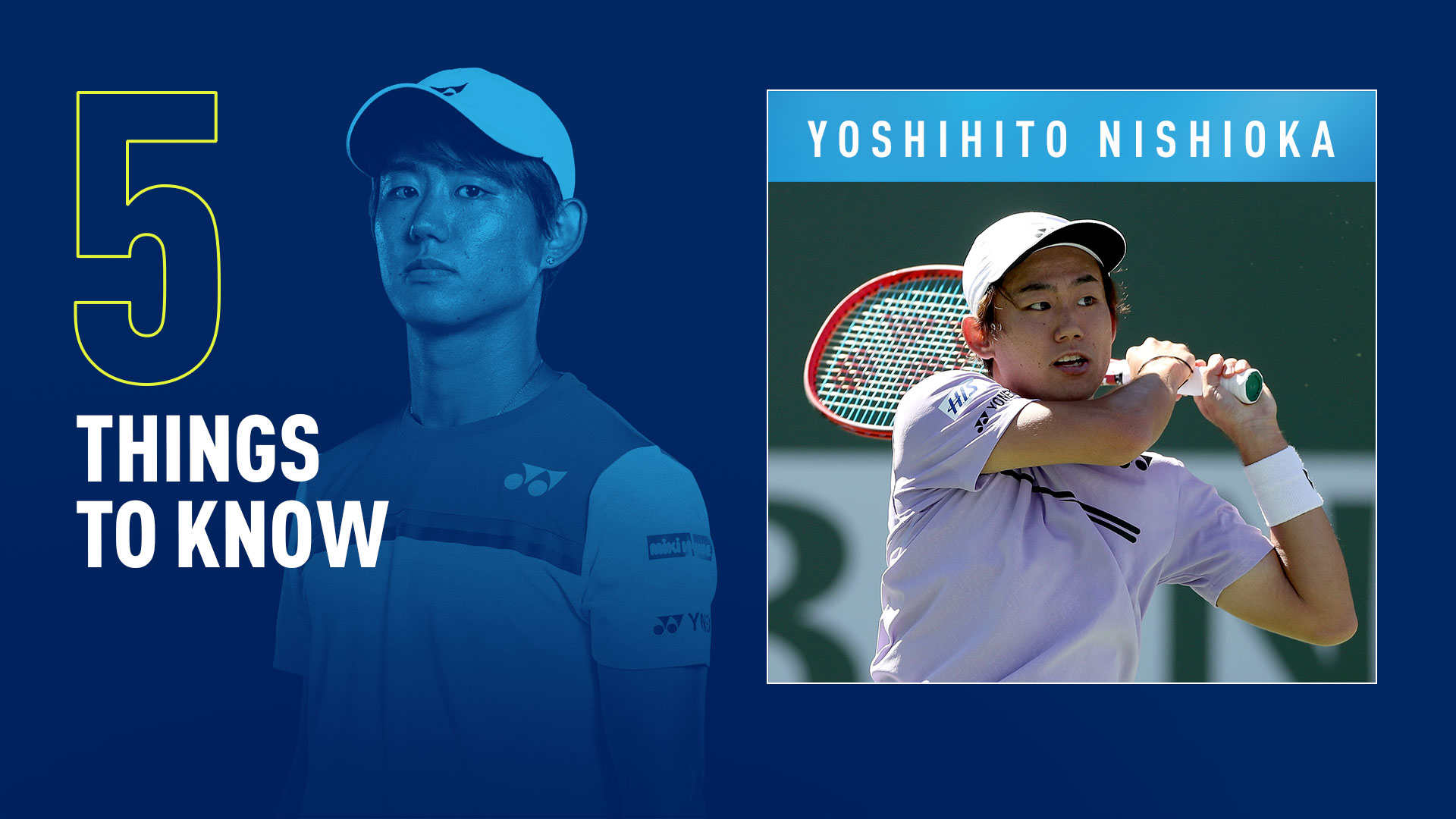 Yoshihito Nishioka is currently at a career-high No. 48 in the FedEx ATP Rankings.