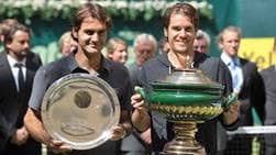 Roger Federer and Tommy Haas contested four ATP Head2Head clashes at the NOVENTI OPEN in Halle.