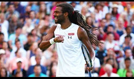 Brown Celebration Wimbledon 2015 Second Round