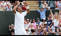 Nick Kyrgios saved nine match points to beat Richard Gasquet at Wimbledon in 2014.
