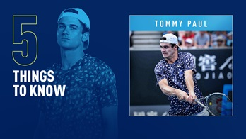 Tommy Paul is at a career-high No. 57 in the FedEx ATP Rankings.