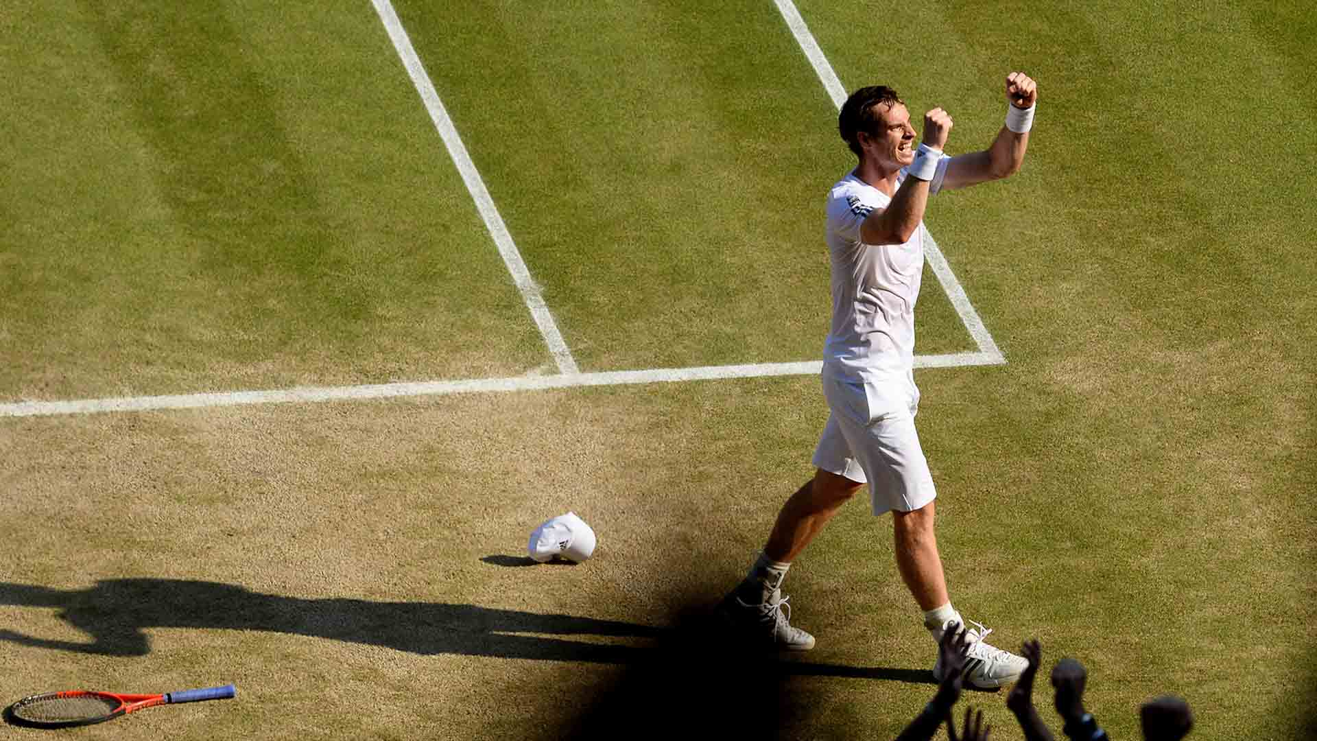 <a href='/en/players/andy-murray/mc10/overview'>Andy Murray</a> defeats <a href='/en/players/novak-djokovic/d643/overview'>Novak Djokovic</a> in straight sets to claim his maiden <a href='/en/tournaments/wimbledon/540/overview'>Wimbledon</a> title in 2013.