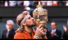 Bjorn Borg beats John McEnroe in five sets to claim the 1980 Gentlemen's Singles title at Wimbledon.
