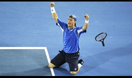 Hewitt Baghdatis Australian Open 2008 Celebration