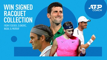Roger Federer, Novak Djokovic, Rafael Nadal and Andy Murray have donated signed racquets to raise funds for the ATP Coach Programme.