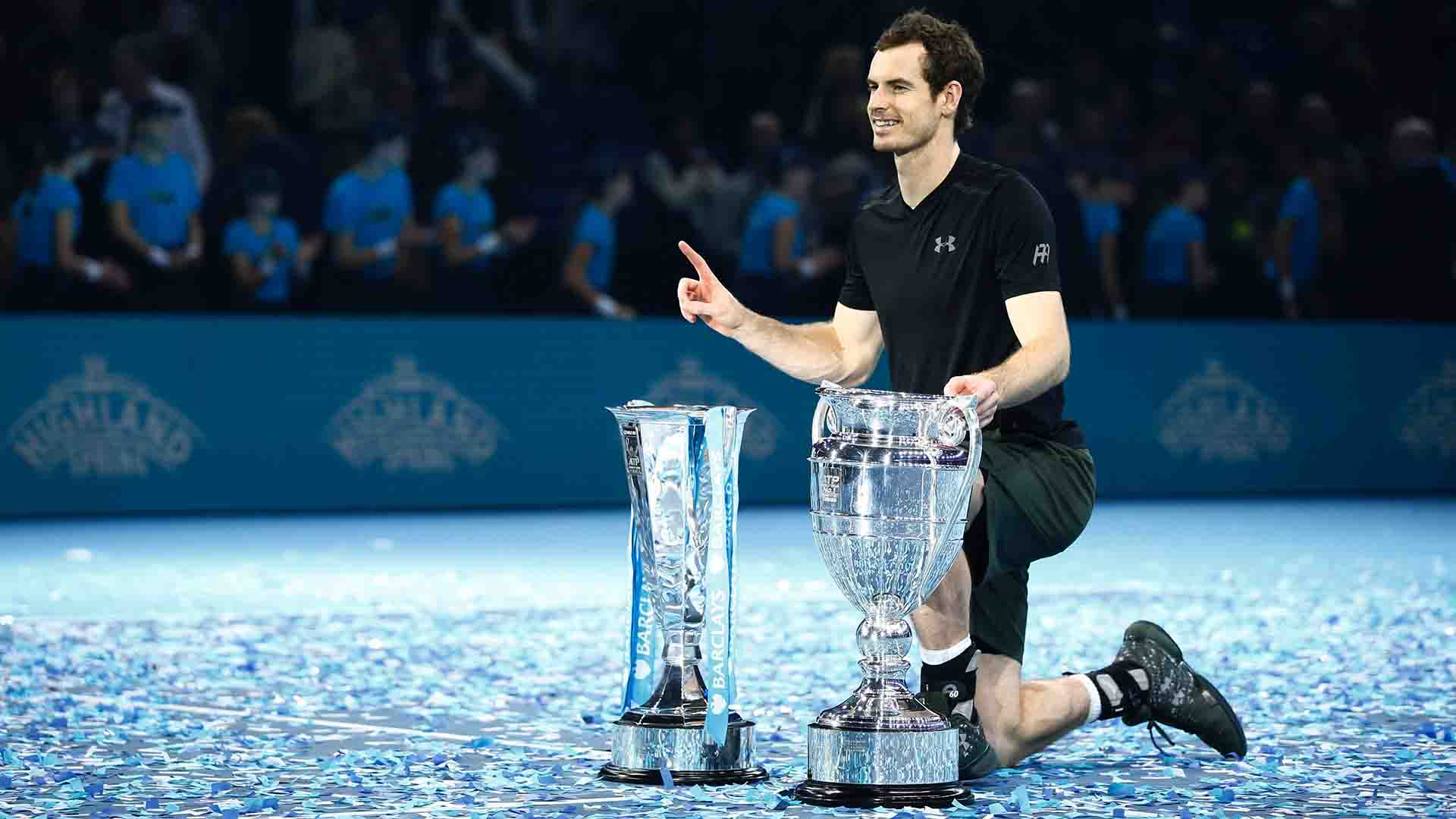 <a href='/en/players/andy-murray/mc10/overview'>Andy Murray</a> beat <a href='/en/players/novak-djokovic/d643/overview'>Novak Djokovic</a> to win the <a href='/en/tournaments/nitto-atp-finals/605/overview'>Nitto ATP Finals</a> and finish as year-end World No. 1 in the FedEx ATP Rankings in 2016.