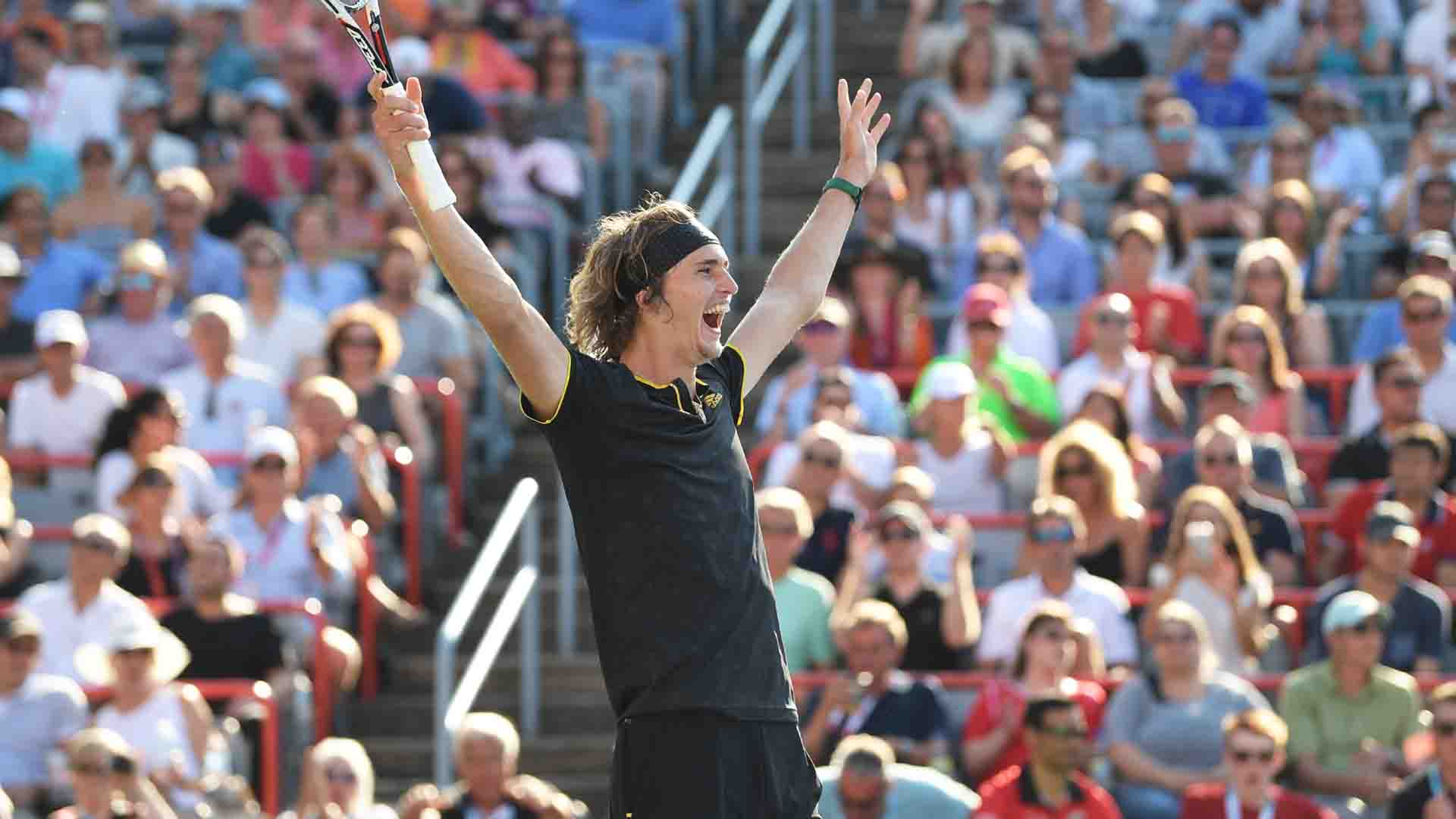 <a href='/en/players/alexander-zverev/z355/overview'>Alexander Zverev</a> beats <a href='/en/players/roger-federer/f324/overview'>Roger Federer</a> in straight sets to win his maiden Coupe Rogers title.