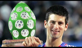 Novak Djokovic lifted his first tour-level trophy on hard courts at the 2006 Moselle Open.