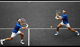 Roger Federer and Rafael Nadal played their first doubles match as a team at the 2017 Laver Cup in Prague.