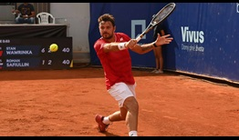 Stan Wawrinka moves into the second round at the ATP Challenger Tour event in Prague.
