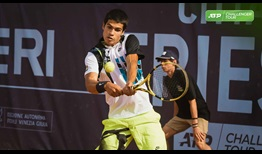 Carlos Alcaraz moves into his first ATP Challenger Tour final on the clay of Trieste, Italy.