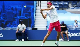 Zverev US Open 2020 Day 1 Backhand