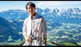 Kei Nishikori enjoyed visiting the world-renowned Hahnenkamm ahead of the Generali Open in Kitzbühel.
