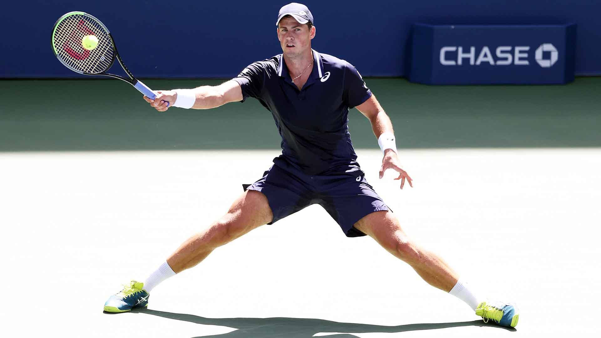 <a href='https://www.atptour.com/en/players/vasek-pospisil/pd07/overview'>Vasek Pospisil</a> is through to the <a href='https://www.atptour.com/en/tournaments/us-open/560/overview'>US Open</a> fourth round for the first time.