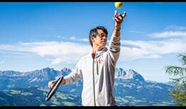 Kei Nishikori visited the famous Hahnenkamm in Kitzbühel ahead of the 2020 Generali Open.