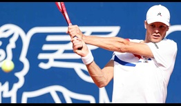 Yannick Hanfmann has won six matches from qualifying at the Generali Open.