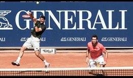 Austin Krajicek (right) and Franko Skugor (left) survived three Match Tie-breaks en route to the Generali Open trophy.