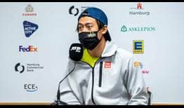 Kei Nishikori will battle clay-court stalwart Cristian Garin in his Hamburg opener.