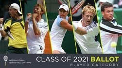 Four ATP Tour stars will feature on the International Tennis Hall of Fame's Class of 2021 ballot.