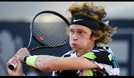 Fifth seed Andrey Rublev gets off to a strong start in Hamburg on Monday.