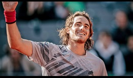 Stefanos Tsitsipas beats Pablo Cuevas in Hamburg to reach his fourth quarter-final of 2020.