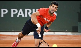 Djokovic Roland Garros 2020 Practice Serve