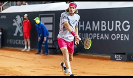 Stefanos Tsitsipas is making his debut at the Hamburg European Open this week.
