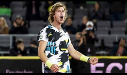 Andrey Rublev claims his 25th win from 31 matches this year.
