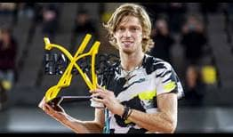 Andrey Rublev is unbeaten in three ATP Tour finals this year.