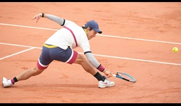 Nishikori Roland Garros 2020 Day 1 Stretch
