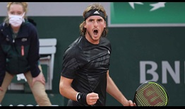 Tsitsipas Roland Garros 2020 Day 3 Celebration