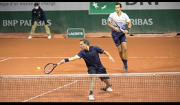 Mate Pavic (right) and Bruno Soares (left) are attempting to capture their second straight major title as a team.