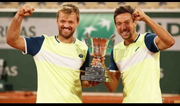 Kevin Krawietz and Andreas Mies beat three consecutive seeded teams to lift the Roland Garros trophy.