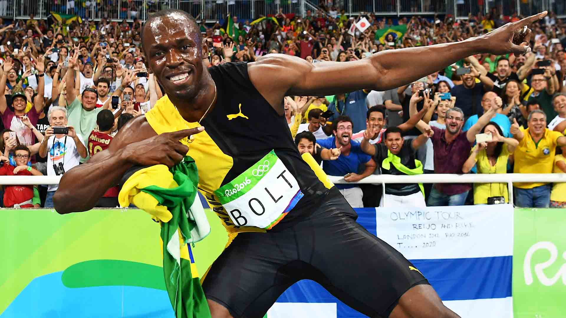 Usain Bolt is the only sprinter in history to win 100m and 200m gold medals in three consecutive editions of the Olympic Games.