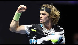 Home favourite Andrey Rublev wins 87 per cent of his first-serve points on Tuesday en route to a 6-2, 6-4 win against Canadian Vasek Pospisil in St. Petersburg.