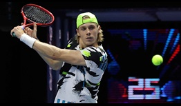 Denis Shapovalov hits 10 aces and loses four of his first-service points on Wednesday against Viktor Troicki in St. Petersburg.