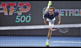 Daniil Medvedev does not lose serve in the final two sets to beat Richard Gasquet in three sets on Wednesday.