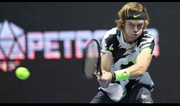 Andrey Rublev, competing at a career-high No. 10 in the FedEx ATP Rankings, beats Cameron Norrie on Friday for a place in the St. Petersburg semi-finals.