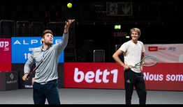 NHL Most Valuable Player Leon Draisaitl gets serving tips from World No. 7 Alexander Zverev in Cologne.