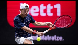 Diego Schwartzman did not lose serve in his straight-sets victory against Oscar Otte on Thursday in Cologne.