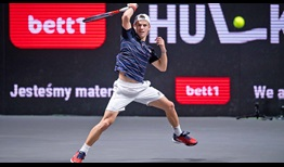Diego Schwartzman is pursuing his first ATP Tour title indoors this week in Cologne.